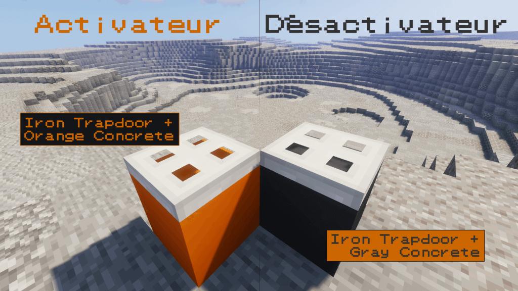 Présentation de l'activateur et du désactivateur de gravité